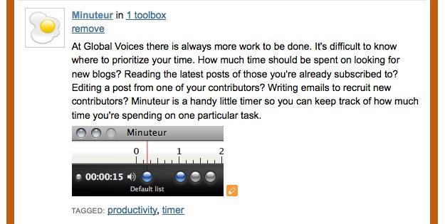 Minuteur Custom Description