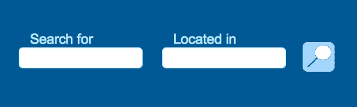 """A """"Search for"""" Box and a """"Located in"""" Box: Nice and Simple."""