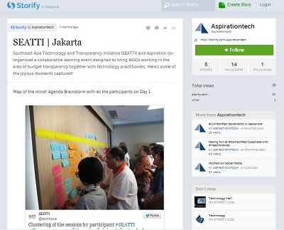 Storify Listening Dashboard